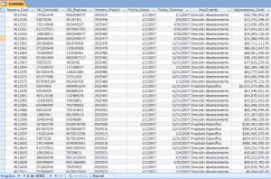 Tablas Microsoft Access Contrato