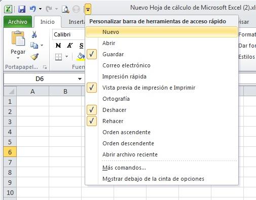 Excel 02_03- La barra de acceso rapido 02