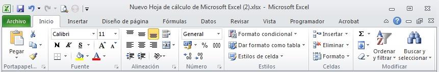 Excel 02_04-La barra de opciones