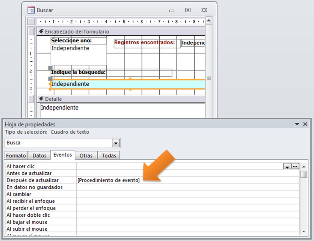 Access – Hacer que un buscador encuentre registros en formato texto ...