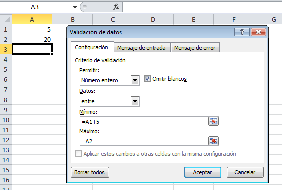 Aprende a validar los datos en Microsoft Excel.