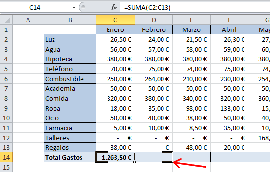 Microsoft Excel - Controlador de relleno.