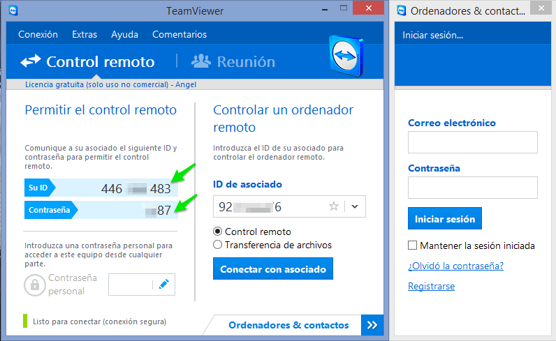 TeamViewer en Windows