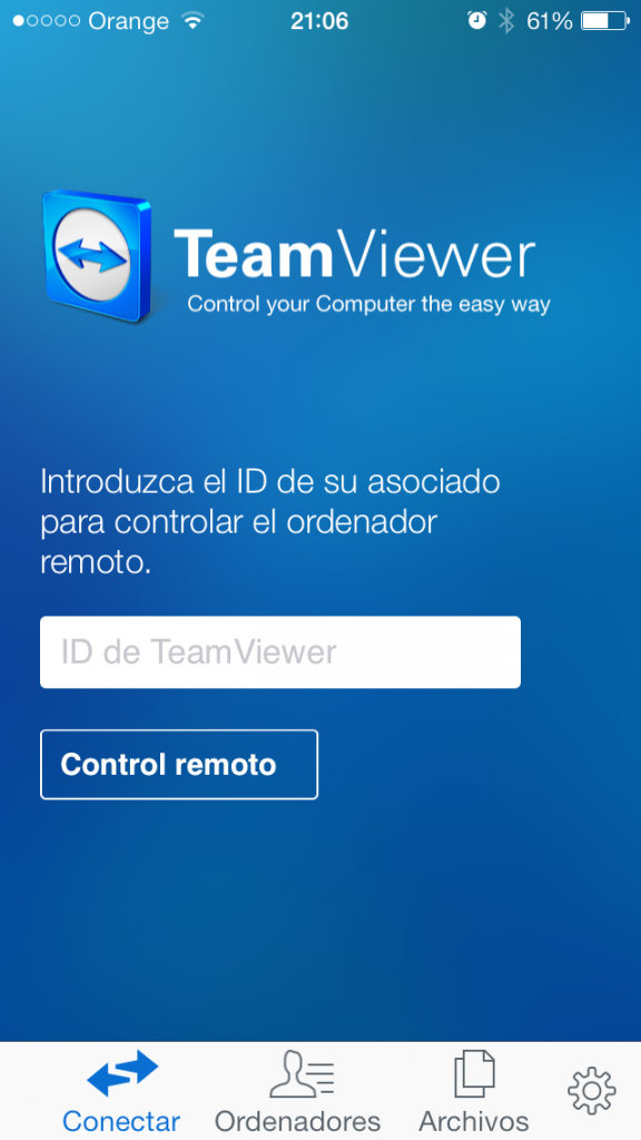 TeamViewer en iPhone