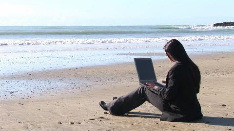 Programando desde la playa