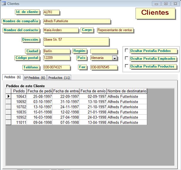 Access Control de Fichas
